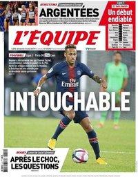 capa Jornal L'Équipe de 12 agosto 2018