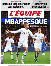 capa Jornal L'Équipe de 12 outubro 2018