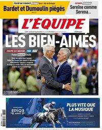 capa Jornal L'Équipe de 13 julho 2018