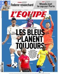 capa Jornal L'Équipe de 14 agosto 2018