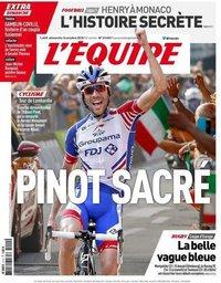 capa Jornal L'Équipe de 14 outubro 2018