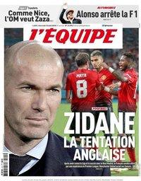 capa Jornal L'Équipe de 15 agosto 2018