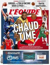 capa Jornal L'Équipe de 15 outubro 2018