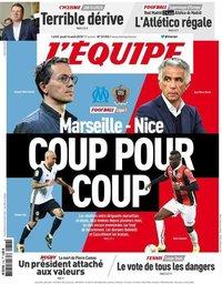 capa Jornal L'Équipe de 16 agosto 2018