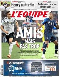capa Jornal L'Équipe de 16 outubro 2018