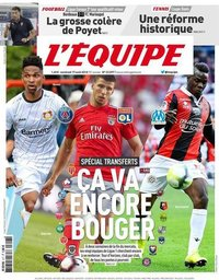 capa Jornal L'Équipe de 17 agosto 2018