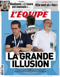 capa Jornal L'Équipe de 22 agosto 2018