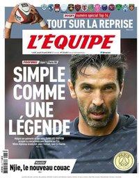 capa Jornal L'Équipe de 23 agosto 2018