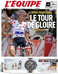 capa Jornal L'Équipe de 25 julho 2018