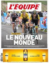 capa Jornal L'Équipe de 26 julho 2018