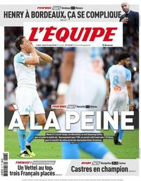 capa Jornal L'Équipe de 27 agosto 2018