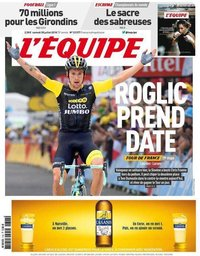 capa Jornal L'Équipe de 28 julho 2018