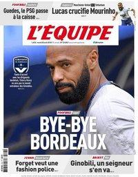 capa Jornal L'Équipe de 28 agosto 2018