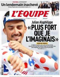 capa Jornal L'Équipe de 31 julho 2018
