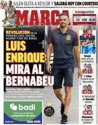 capa Jornal Marca de 1 setembro 2018