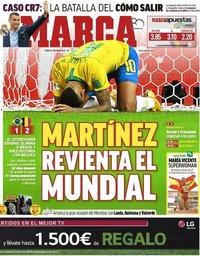 capa Jornal Marca de 7 julho 2018