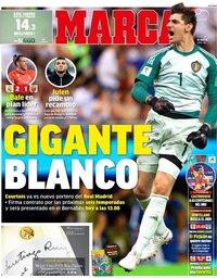 capa Jornal Marca de 9 agosto 2018