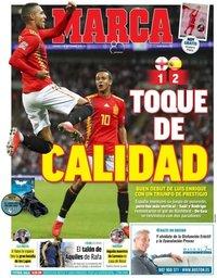 capa Jornal Marca de 9 setembro 2018