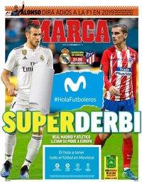 capa Jornal Marca de 15 agosto 2018