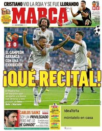 capa Jornal Marca de 20 setembro 2018