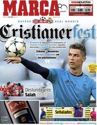 capa Jornal Marca de 25 abril 2018