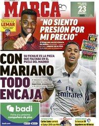 capa Jornal Marca de 29 agosto 2018