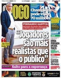 capa Jornal O Jogo de 1 maio 2018