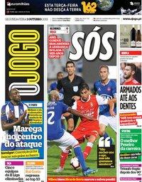 capa Jornal O Jogo de 1 outubro 2018