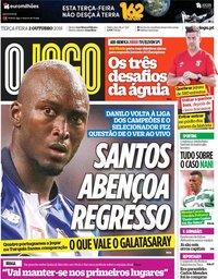 capa Jornal O Jogo de 2 outubro 2018
