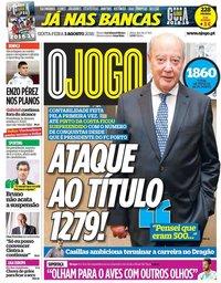 capa Jornal O Jogo de 3 agosto 2018