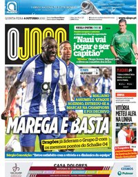 capa Jornal O Jogo de 4 outubro 2018