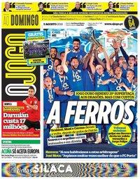 capa Jornal O Jogo de 5 agosto 2018