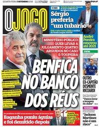 capa Jornal O Jogo de 5 setembro 2018