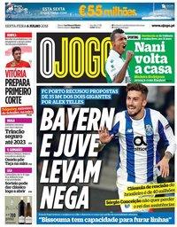 capa Jornal O Jogo de 6 julho 2018