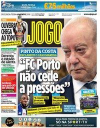 capa Jornal O Jogo de 6 agosto 2018