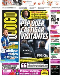 capa Jornal O Jogo de 6 outubro 2018