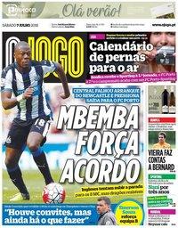 capa Jornal O Jogo de 7 julho 2018