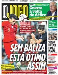 capa Jornal O Jogo de 7 setembro 2018