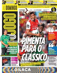 capa Jornal O Jogo de 7 outubro 2018