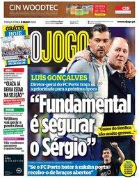 capa Jornal O Jogo de 8 maio 2018