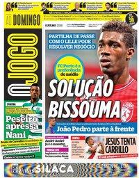 capa Jornal O Jogo de 8 julho 2018