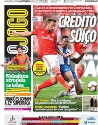 capa Jornal O Jogo de 8 outubro 2018
