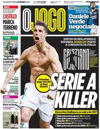 capa Jornal O Jogo de 11 julho 2018