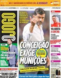 capa Jornal O Jogo de 11 outubro 2018