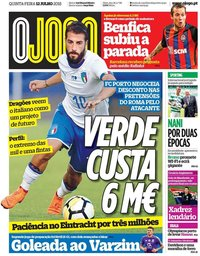 capa Jornal O Jogo de 12 julho 2018