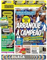 capa Jornal O Jogo de 12 agosto 2018