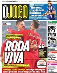capa Jornal O Jogo de 12 outubro 2018