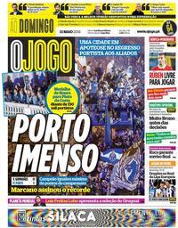 capa Jornal O Jogo de 13 maio 2018