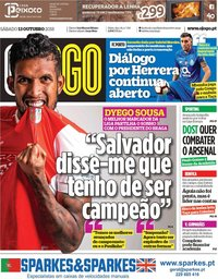 capa Jornal O Jogo de 13 outubro 2018