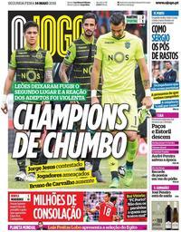 capa Jornal O Jogo de 14 maio 2018